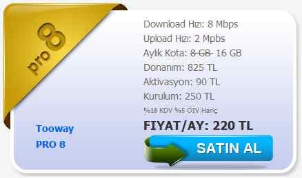 tooway uydu internet pro paket 1