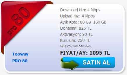 tooway uydu internet pro paket 4